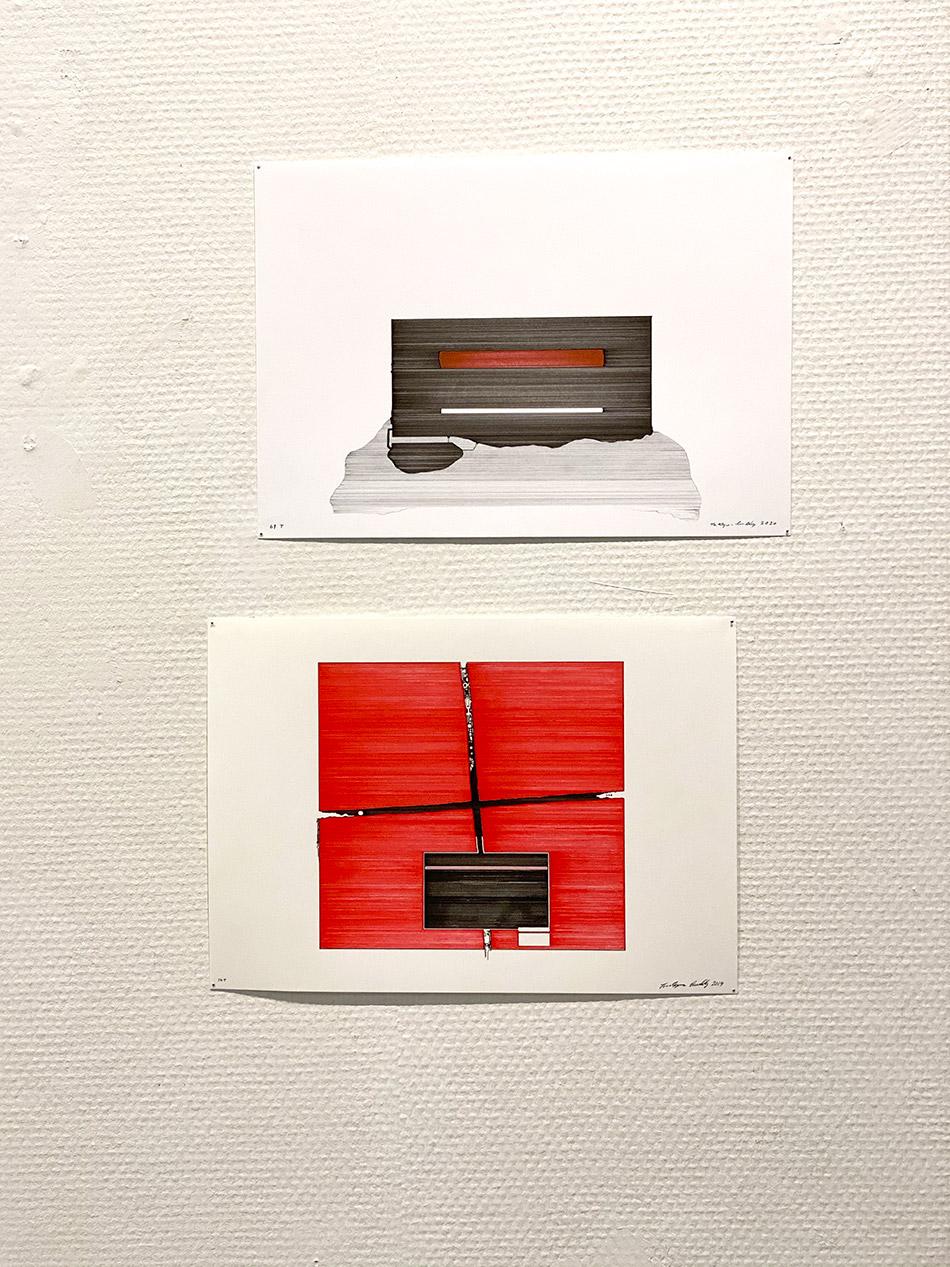 «Tegninger» er utstilt ved Fredrikstad kunstsenter. Kunstner Tor-Magnus Lundby utfordrer seg selv, strek for strek i tusj og blyant på papir.