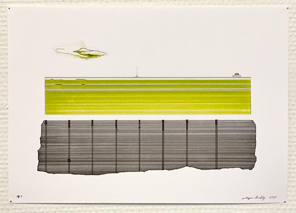 """Tor-Magnus Lundeby (f. 1966), """"Tegninger"""". Kunstutstilling."""
