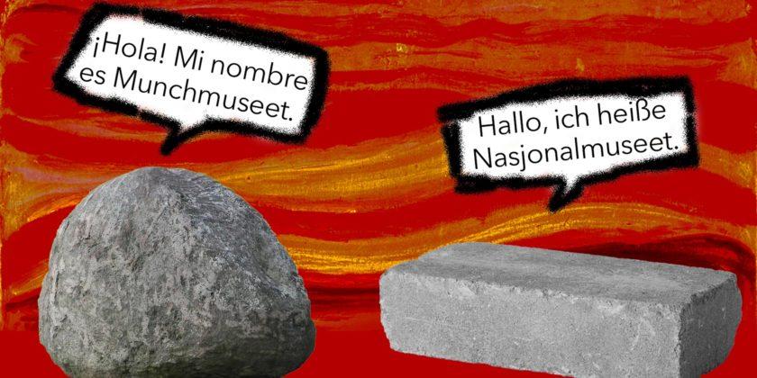 Munch og Nasjonalmuseet i trøbbel – igjen. Illustrasjon: Victoria Vale.